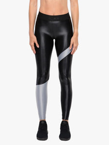 Appeal Black and Silver High Rise Energy Leggings