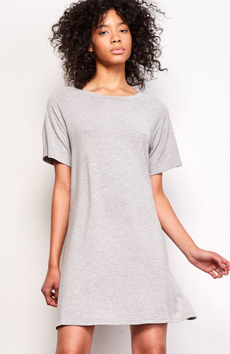 Greer Open Back Heather Grey Dress