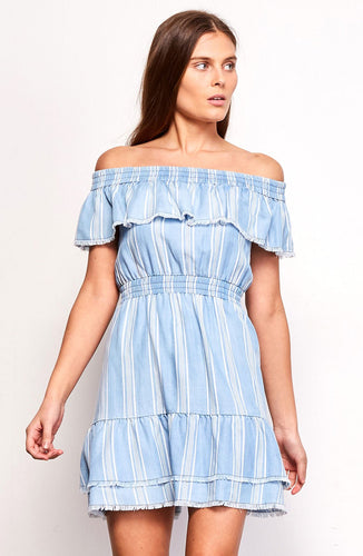 Coco Stripped Chambray Dress
