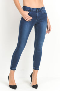 Released Hem Dark Jeans