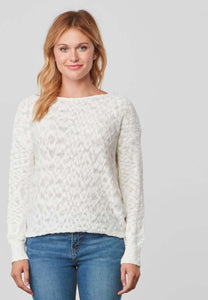 Caddie Ivory Open Back Sweater