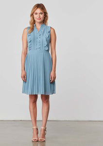 Hastings Faded Denim Pleated Dress