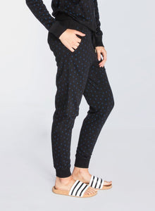 Anchors Black Dropped Crotch Sweatpants