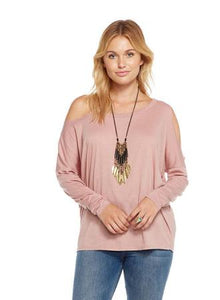 Deconstructed Cold Shoulder Dolman Top