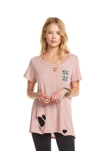 Major Amour Rose Distressed Tee