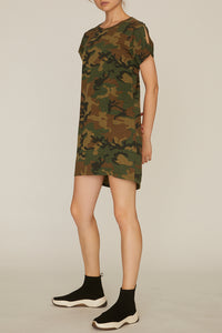 Love Camo So Twisted T Shirt Dress