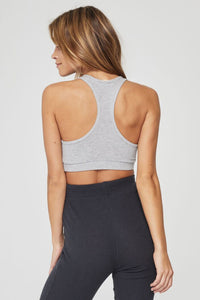 Heather Grey Ballet Rib Bra