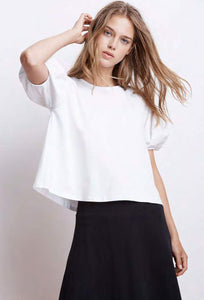 Ayla White Structured Cotton Top