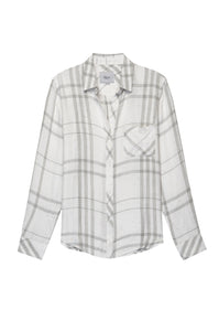 Hunter White Charcoal Funfetti Button Down