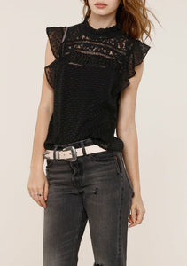 Seevon Black Sleeveless Blouse