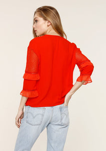 Hester Flame Blouse