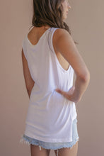 Hanni Brushed White Tank
