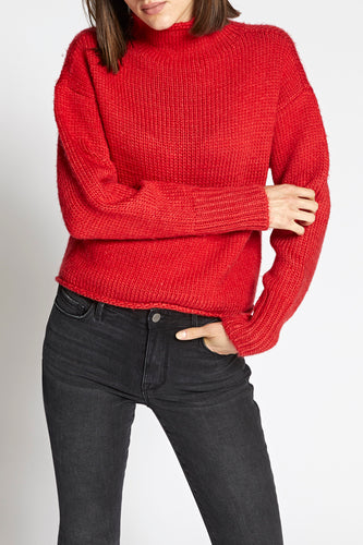 Street Red Curl Up Sweater