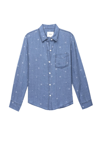 Ingrid Indigo Stars Button Down