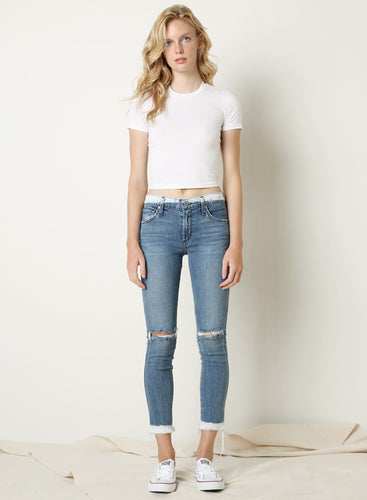 Twiggy Skinny Dip Mid Rise Ankle Jeans