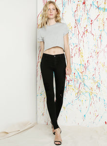 Twiggy Dancer Black Flex Distressed Jeans