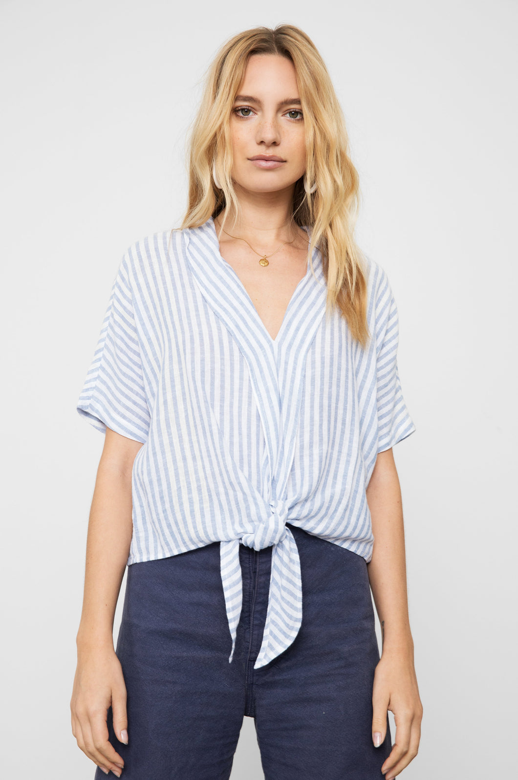 June Bluebell Striped Top