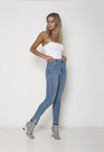 Bombshell City Blues Released Split Hem Jeans