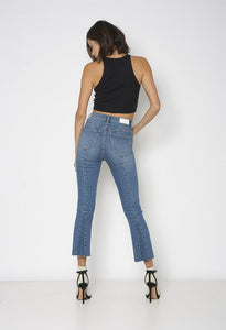 Blue Bombshell Fluted Jeans