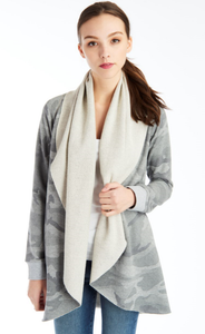 Morrison Heather Grey Camo Cardigan