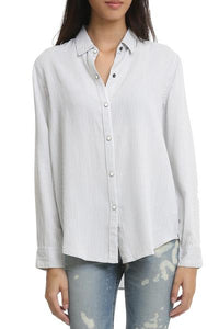 Eliza Pinstripe Button Down