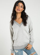 Sterling Mon Ami V Neck Heather Grey Sweatshirt