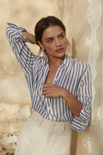 Sydney Boracay Stripe ong Sleeve Button Down