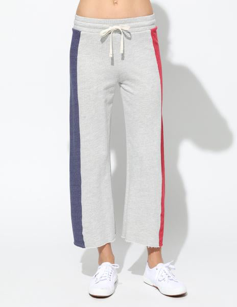 Color Block Heather Grey Flare Sweat Pants
