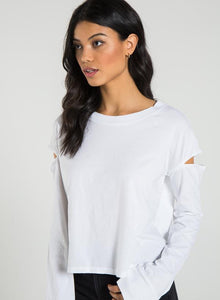 Vincent White Long Sleeve Tee