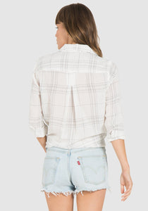 Fray Hem Pocket Button Down