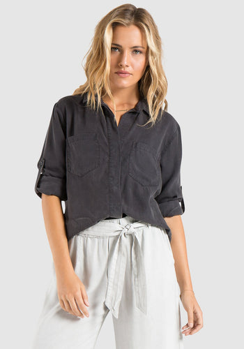 Nightshade Split Back Button Down Shirt