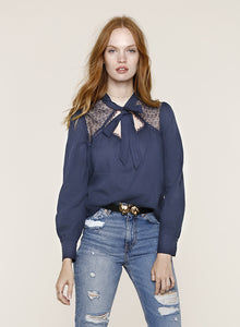Belle Navy Top