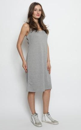 Gabe Heather Grey Cotton Dress