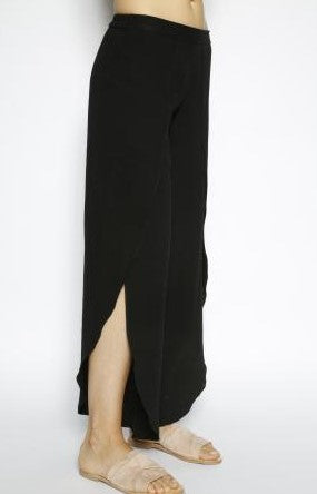 Whitney Black Pants with Sidle Slit