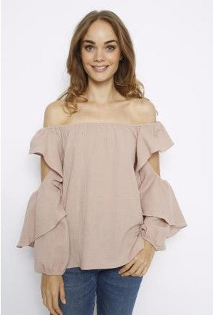 Mish Petal Off the Shoulder Blouse