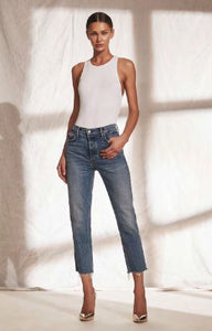 Helena High Rise Straight Crop Jeans