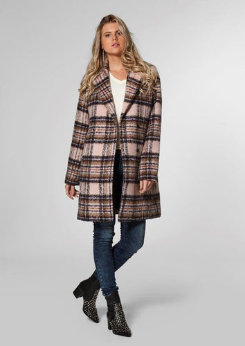 Seven Blackberry Plaid Coat
