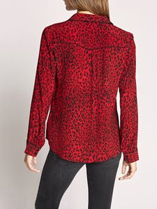 Joni Red Leopard West Shirt