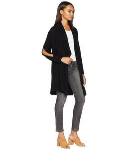 Brushed Diverge Black Cardigan