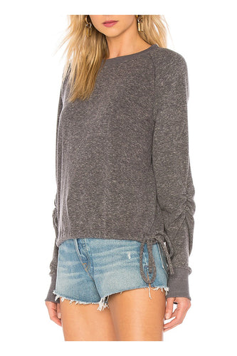 Heather Grey Cinched Sweatshirt