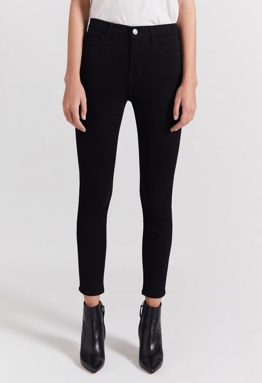 Clean Black High Waist Stiletto Jeans