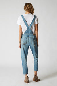 Distresed Denim Overalls