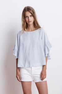Alberta Cloud Woven Linen Top
