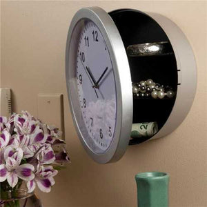 Creative Wall Clock Hidden Secret Safe Box for Cash Money Jewelry Storage