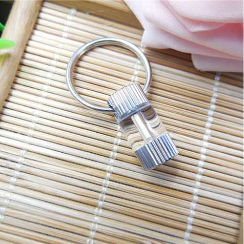 1.5x6mm Tritium Tube Metallic Vertical Stripes Self-luminous 15-Years Keychain