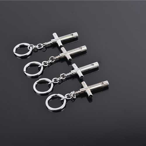 Cross Metal Keychain With 15Years Self-Luminous 3x22.5mm Tritium