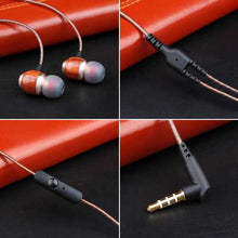 M300 Wooden HiFi Deep Base In-Ear Wired Control Earphone Headphone with Built-in Mic