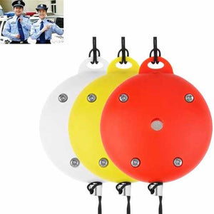 Random Color Emergency Siren Alarms Round Electronic Personal Safety Loud Panic Security Keychain Alarm Anti-Rape Anti-Attack Sensors