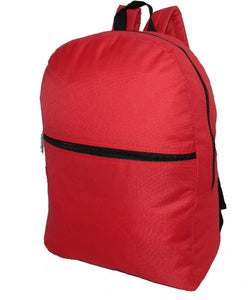 "Case of [50] 16"" Basic Backpack - Red"