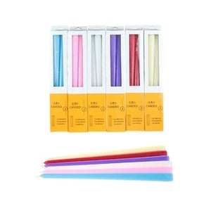 "Case of [48] 12"" Unscented Taper Candles - Assorted"